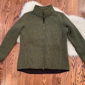 Ascend green sherpa lined green zip up jacket XL